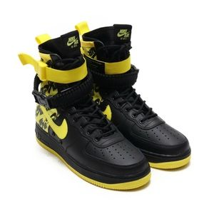 more photos 8941d 6147f Nike SF AF1 Air Force 1 Black Dynamic Yellow